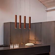 pendant lamp contemporary metal led cylinder