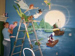 incredible peter pan wall art designing home angela working on our mural nursery large