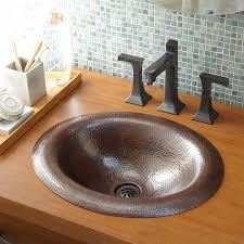 18 x 15 maestro lotus drop in bathroom sink antique copper