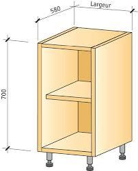Caisson De Cuisine Bas1 Etagere Kitchen Unit Low1 Shelf Buy