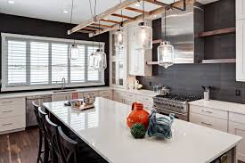 modern rustic kitchens.  Rustic White And Grey Kitchen Throughout Modern Rustic Kitchens