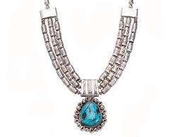 handmade silver morenci necklace 3 495 00