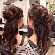 Kapsels Lang Haar Half Opgestoken Moderne Frisuren