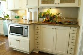 rockford painted linen shaker undercounter microwave cabinets