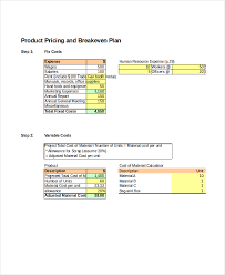 Break Even Excel Template Stunning Break Even Analysis 48 Free Excel PSD Documents Download Free
