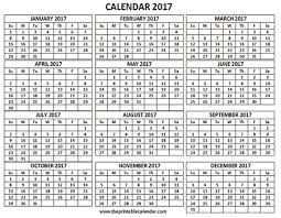 Printable 2017 Calendar One Page 12 Month Calendar