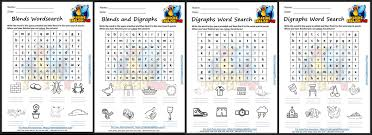 These worksheets will develop skills in the following areas Free Phonics Digraph And Blends Word Search Worksheets Making English Fun