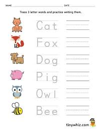 We share with you the following tracing letters worksheets. Free Printable Trace And Write Letter Words Tiny Three Phonics Worksheets Equations Three Letter Words Phonics Worksheets Worksheets Kumon Is It Good Equations Practice Worksheet Kinder Math Sheets High School Math Questions