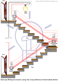 Three Way Connection Lights Staircase Wiring Circuit Diagram How To Control A Lamp
