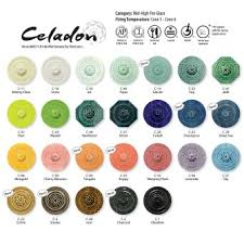 Celadon Color Chart New Product 8 New Amaco Celadons Stone Leaf Pottery