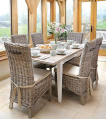 dining room sets with rattan chairs. good wicker dining sets with exquisite set of six italian rattan chairs farosamaz popular property table room o