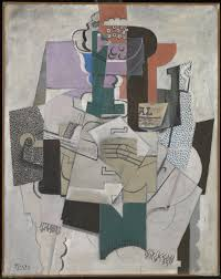 pablo picasso bowl of fruit violin and bottle 1914