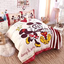 disney queen size bedding cartoon bedding authentic mickey mouse bedding set cotton duvet cover sheet set disney queen size bedding