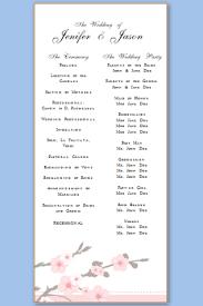 Free Printable Wedding Ceremony Programs Wedding Program Templates Free Printable Wedding Program Templates