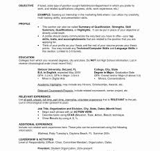 Singular Listing Education On Resume Examples Fresh Ficial Resume