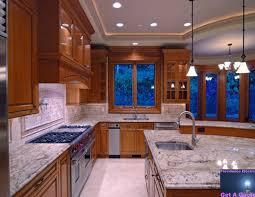 Kitchen Ceiling Lighting Warm Kitchen With Warm Lighting And Led Kitchen Ceiling