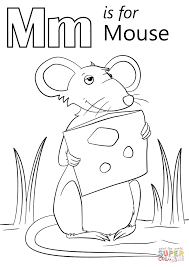 Small Picture M is for Mouse coloring page Free Printable Coloring Pages