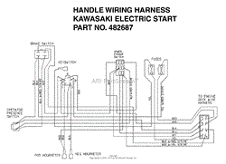 scag swmu 61a s n 8260001 8269999 parts diagram for engine deck handle wiring harness kawasaki electric start