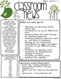 Free Teacher Newsletter Templates Classroom Newsletter Template Download Create Edit Fill And