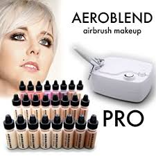 aeroblend airbrush makeup pro starter kit professional cosmetic airbrush makeup system 24 color