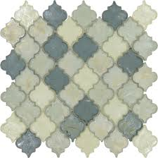 heavenly lagoon blue glossy and iridescent glass tile