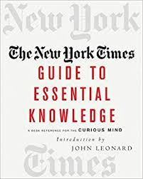 Tv Guide Chart For Short Crossword The New York Times Guide To Essential Knowledge A Desk