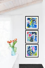 abstact paintings art print set of 3