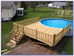 I Full Image For Impressive Above Ground Pool Deck Plans 43  UMIELYG
