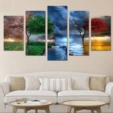 59 big tree in different environment print canvas paintings on coastal life canvas wall art with canvas wall art cheap best discount canvas wall art for sale
