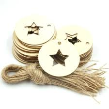 unfinished wood stars unfinished wood circles wooden circle with star shapes gift tags with twine laser unfinished wood stars