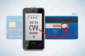 credit card cvv code with mobile phone royalty free cliparts