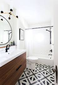 vintage bathroom floor tile ideas i love the black and white with patterned matte fixtures are lovely circle mirror is cool juxtaposed modern angular fl