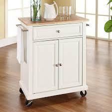 White furniture Wood Crosley Furniture White Craftsman Kitchen Cart Just The Woods Llc Crosley Furniture White Craftsman Kitchen Cart At Lowescom