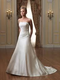 strapless wedding dresses with a line dresscab