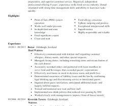 Waiter Resume Simple Waitress Example Restaurant Waiter Resume Waiters Resumes Waitress
