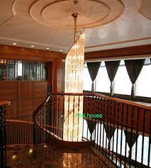 chandelier floor lamp home lighting. Hotel Star Chandelier Villa Long Chandeliers Luxury Duplex Floor Lamps House Round Crystal Light Lustre Lamp Home Lighting A