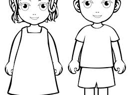 Boy And Girl Coloring Pages Printable Anime Unique On Little