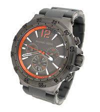 michael kors melbourne chronograph gunmetal orange mens watch item 5 new michael kors chronograph gun metal date 100m mens watch mk8299