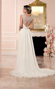 romantic wedding dress with keyhole back stella york