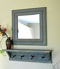 Distressed Wood Coat Rack Entry Mirror With Coat Hooks Extraordinary Entry Mirror With Hooks 73