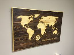 World Map Home Decor Map Wall Art Carved World Map Map Home Wall Decor Wedding