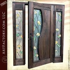glass door with sidelights best antique stained glass images on vintage stained vintage stained glass doors tulip stained glass door craftsman entry door