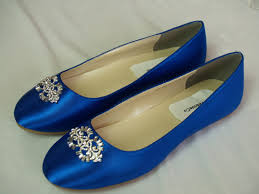 Wedding Flat Royal Blue Shoes With Brooch Royal Blue Plus 200 Royal Blue Wedding Flats