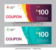 coupon design gift voucher card template design special stock vector 310057538