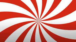 Radial Red Retro Radial Red And White Pattern Circus Inspired Retro Rotating