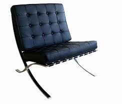Lounge Chaises and Daybeds, Stylish Accessories. Exposition Famous Design  Black Leather Chair