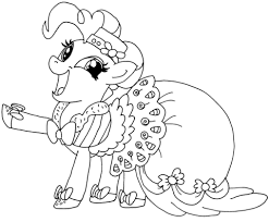 My Little Pony Pinkie Pie Coloring Page Free Printable Coloring Pages