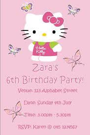Hello Kitty Invitation Personalised Hello Kitty Invitations Design 1