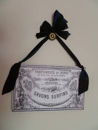 vintage french cologne perfume label