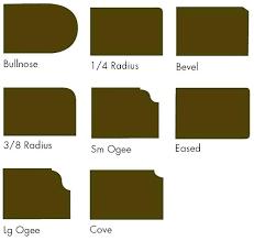 countertop edge profiles quartz edge options quartz edge options solid surface edge profiles quartz edge options